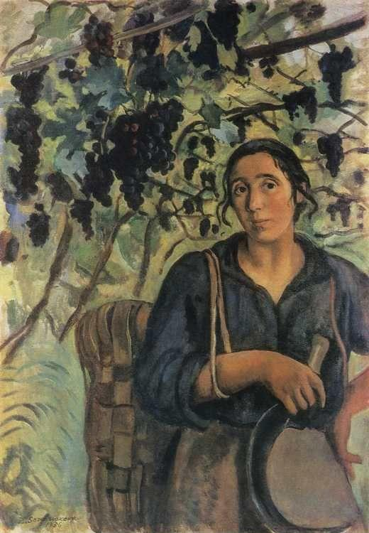 Zinaida Serebriakova. An Italian Peasant Woman in a Vineyard.