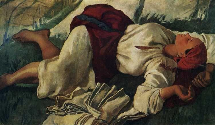 Zinaida Serebriakova. Peasant Woman Sleeping.
