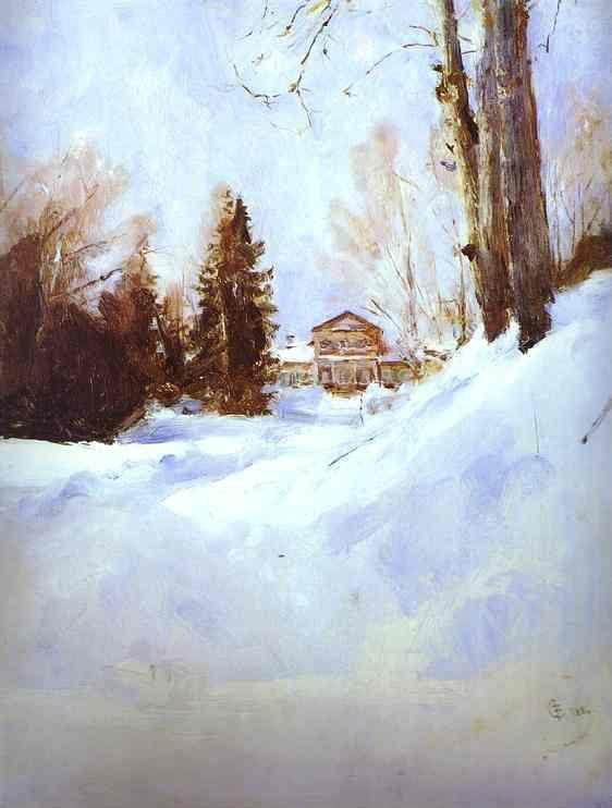 Valentin Serov. Winter in Abramtsevo. The Mansion.