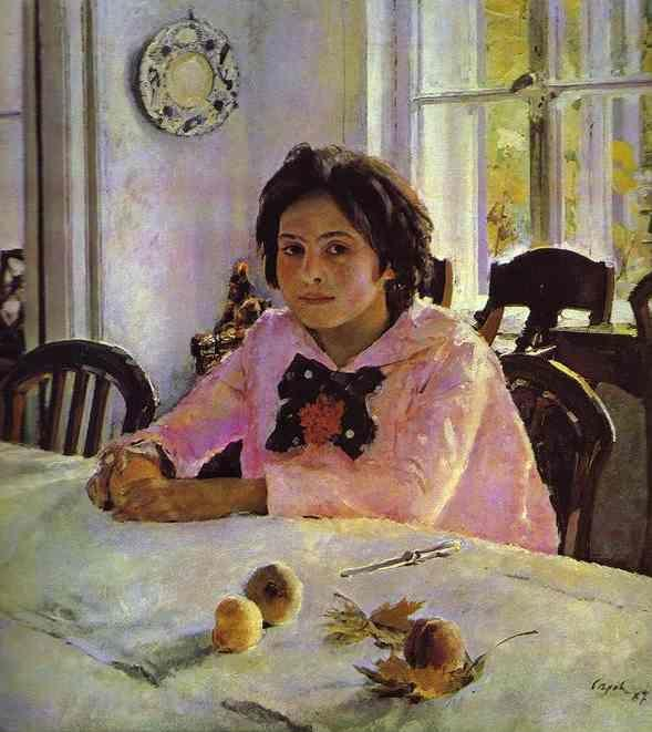 Valentin Serov. Girl with Peaches. Portrait of Vera Mamontova.