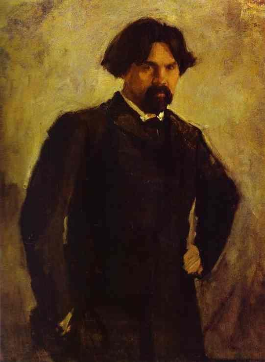 Valentin Serov. Portrait of the Artist Vasily Surikov.