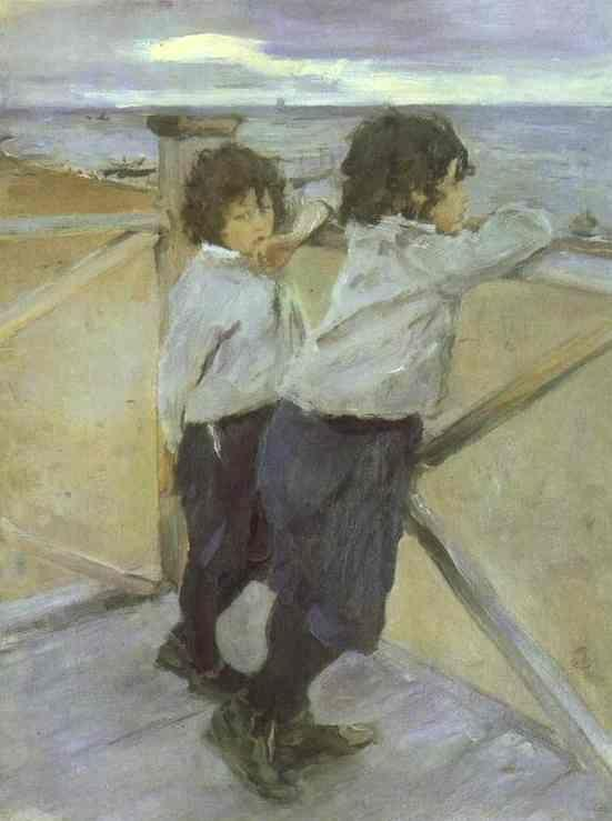 Valentin Serov. The Children. Sasha and Yura Serov.