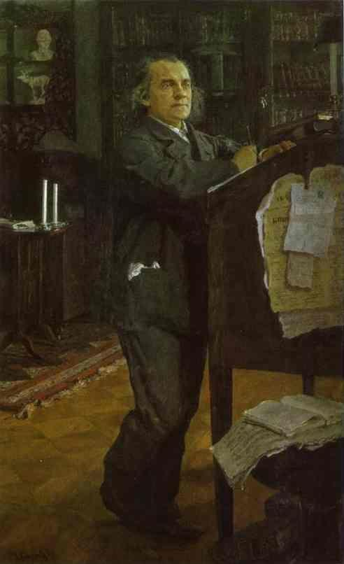 Valentin Serov. Portrait of the Composer Alexander Serov.