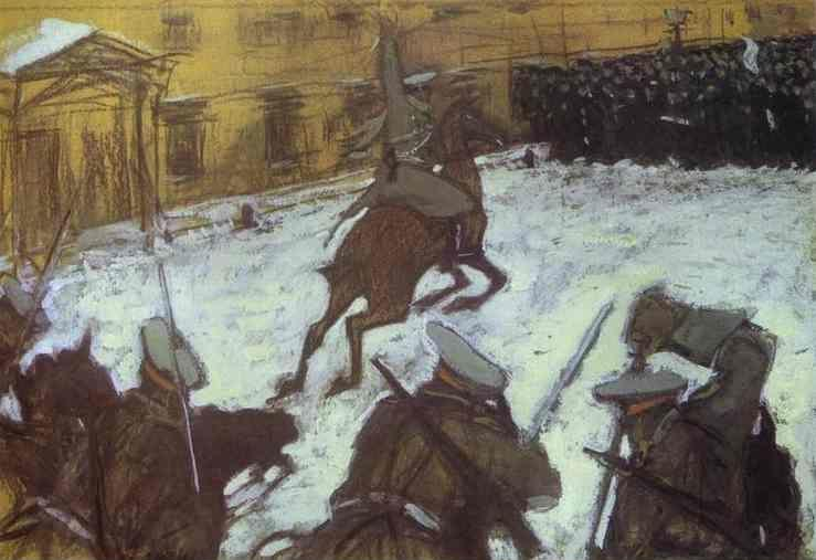 "Valentin Serov. ""Soldiers, Soldiers, Heroes Every One...""."