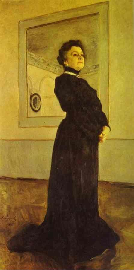 Valentin Serov. Portrait of the Actress Maria Yermolova.