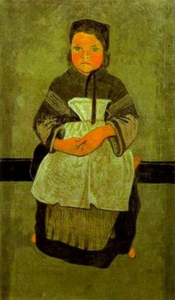 Paul Sérusier. Little Breton Girl Seated (Portrait of Marie Francisaille).