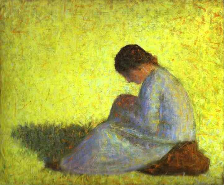 Georges Seurat. Seated Woman.