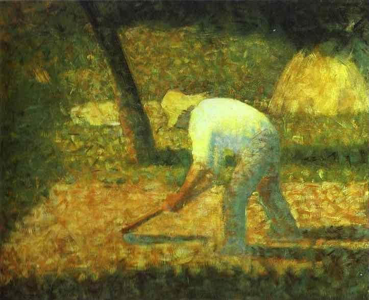 Georges Seurat. Peasant with a Hoe.