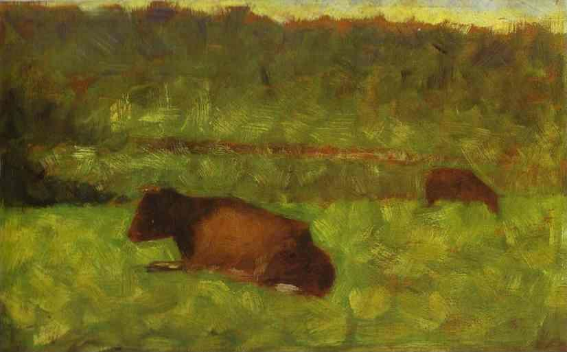 Georges Seurat. Cows in a Field.