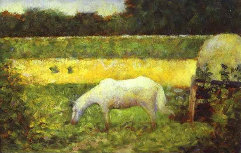 Georges Seurat. Landscape with a Horse.