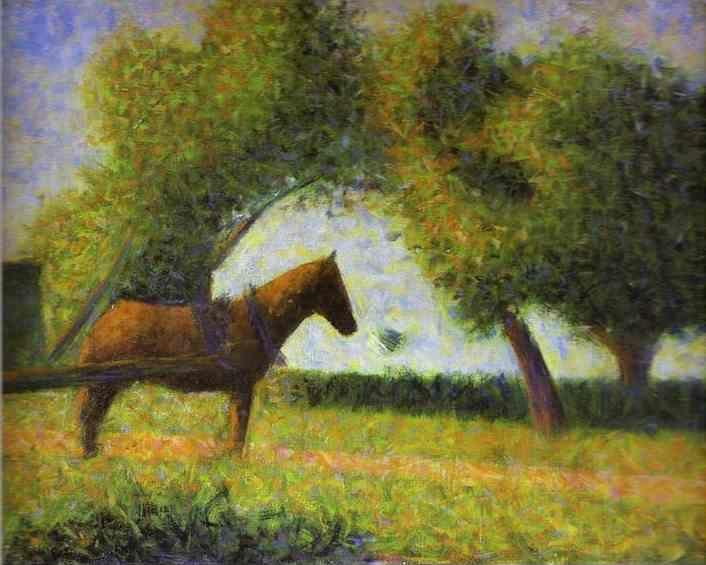 Georges Seurat. Horse in a Field.