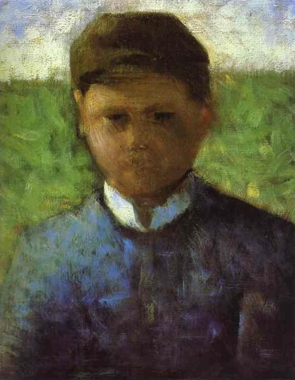 Georges Seurat. Young Peasant in Blue.