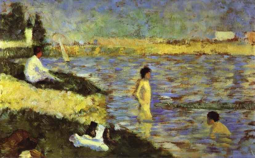 Georges Seurat. Bathing Boys (study for Bathers at Asnières).