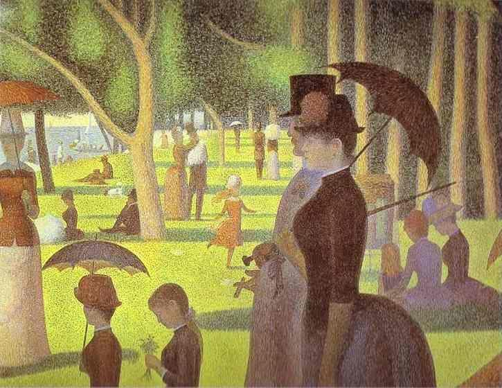 Georges Seurat. A Sunday on La Grande Jatte. Detail.