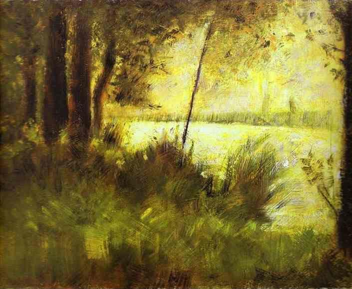 Georges Seurat. Grassy Hill.