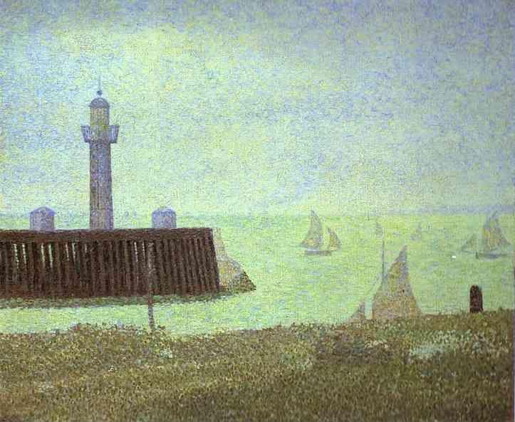 Georges Seurat. The End of a Jetty, Honfleur.