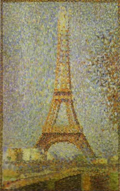 Georges Seurat. The Eiffel Tower.