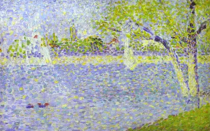 Georges Seurat. The Siene at La Grande Jatte.