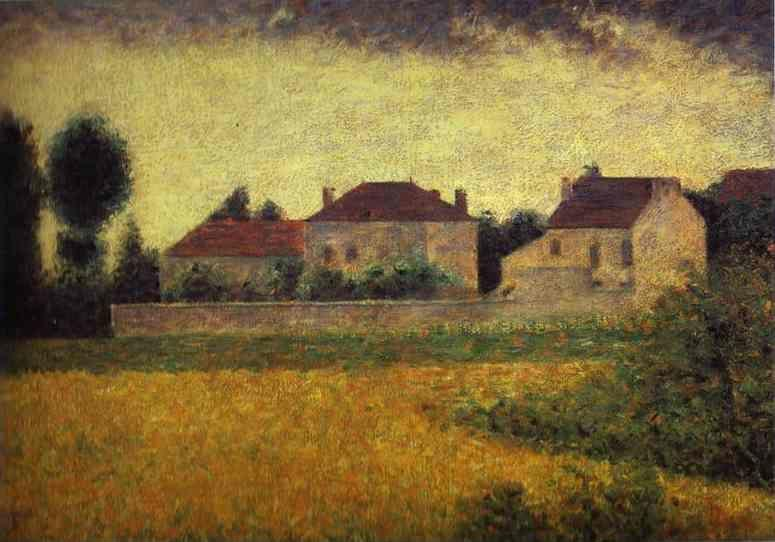 Georges Seurat. Ville-d'Avray, White Houses.