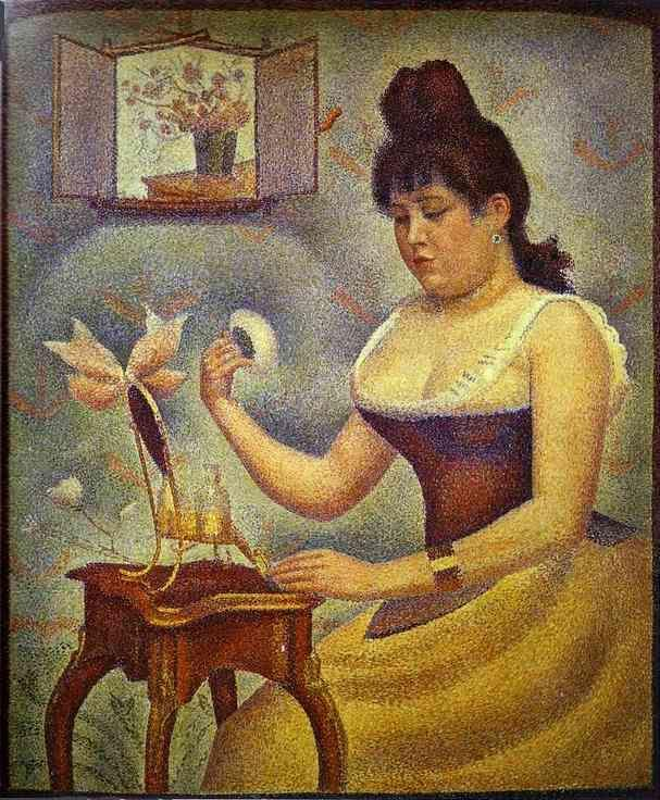 Georges Seurat. Young Woman Powdering Herself.