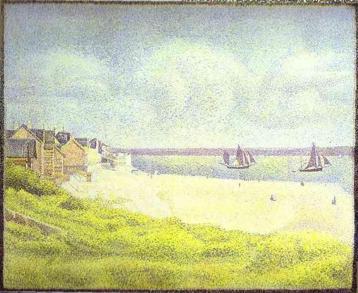 Georges Seurat. View of Crotoy, the Valley.