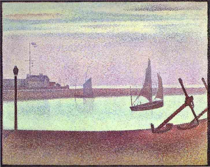 Georges Seurat. The Channel of Gravelines, Evening.