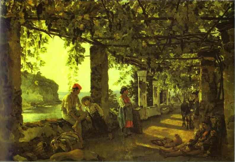 Sylvester Shchedrin. A Porch Twined with Vines.