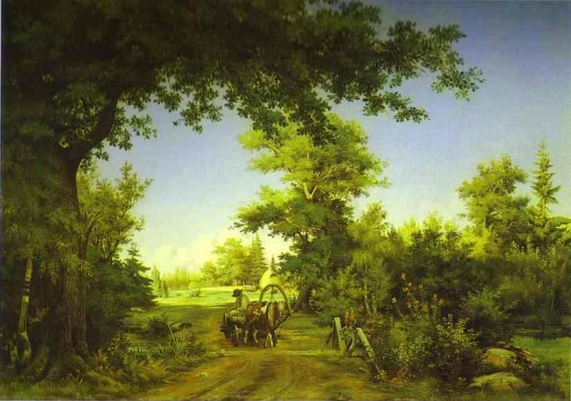 Ivan Shishkin. View in the Vicinity of St. Petersburg.