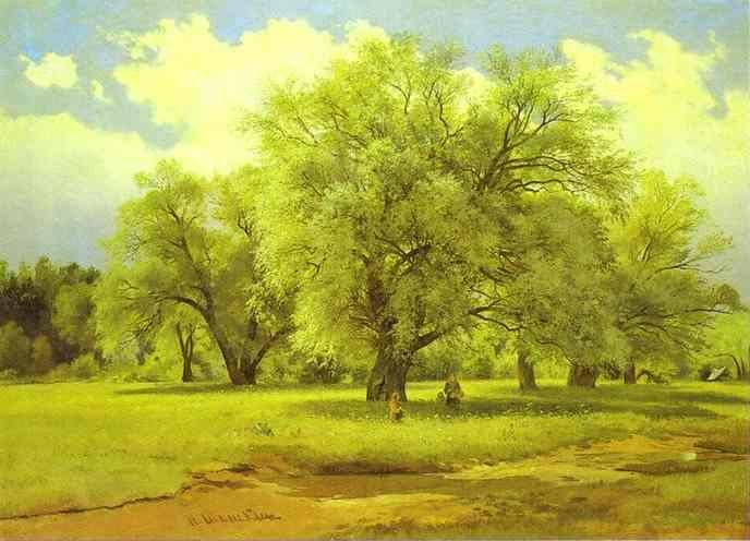 Ivan Shishkin. Willows Lit Up by the Sun.
