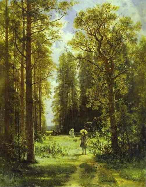Ivan Shishkin. Path in a Forest.