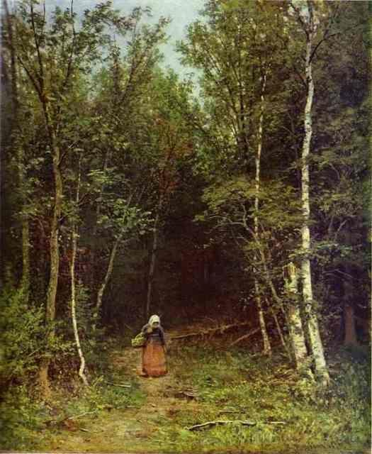 Ivan Shishkin. Landscape with a Woman.