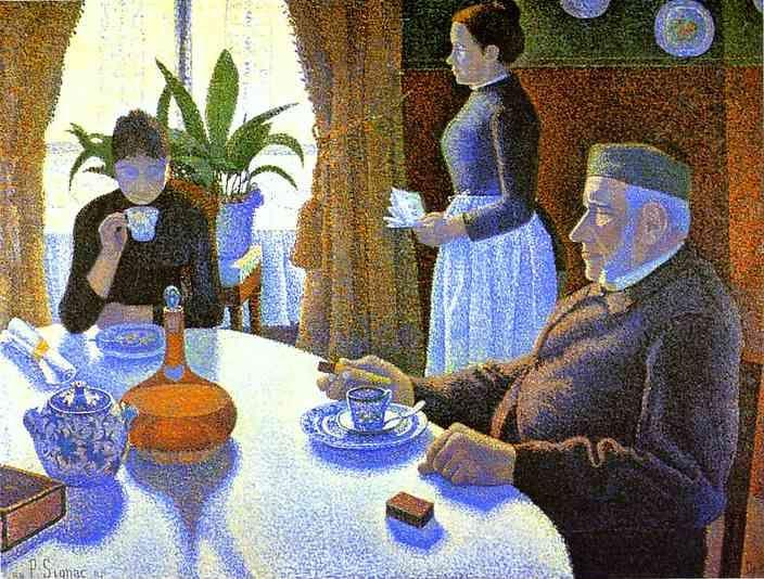 Paul Signac. Breakfast (The Dining Room).
