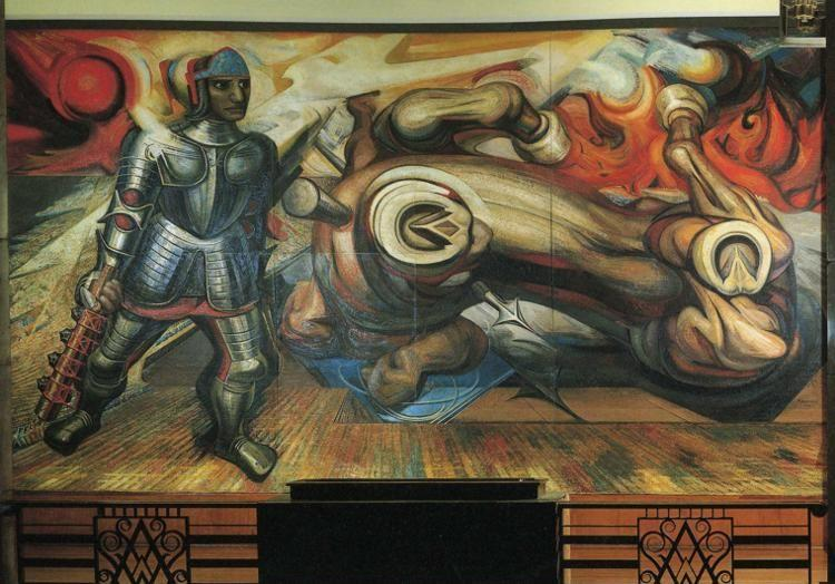 David Alfaro Siqueiros. The Resurrection of Cuauhtemoc.