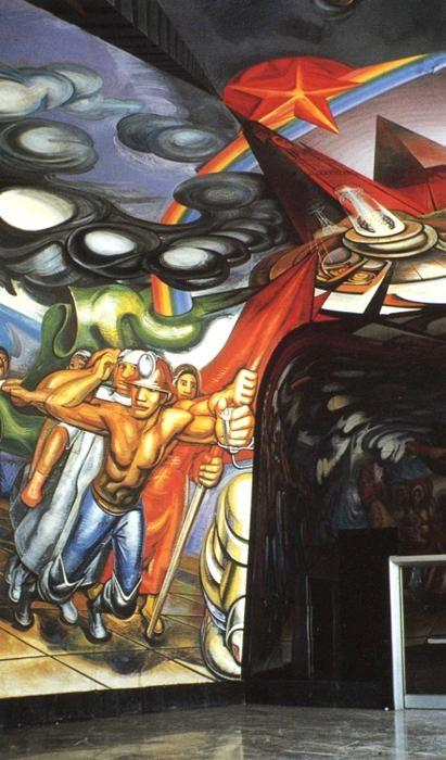 David Alfaro Siqueiros. For the Complete Safety of all Mexicans on Work.