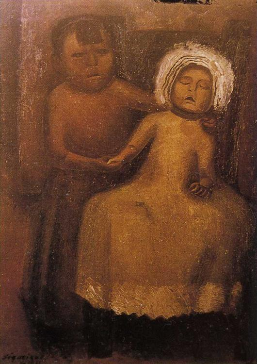 David Alfaro Siqueiros. Portrait of a Dead Child.