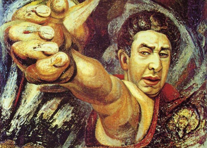 David alfaro siqueiros el coronelazo self portrait for El mural de siqueiros