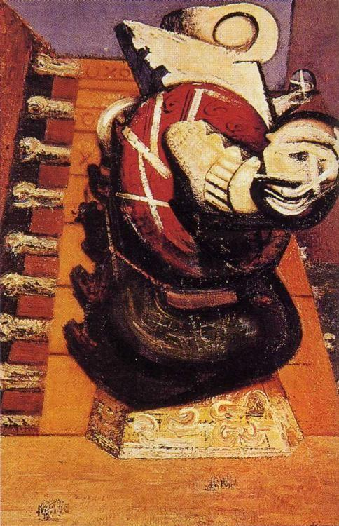 David Alfaro Siqueiros. Chichen Itza Burning.