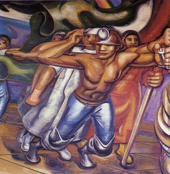 David Alfaro Siqueiros. For Complete Social Security of All Mexicans.