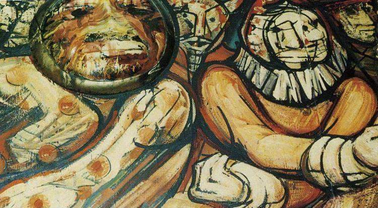 David Alfaro Siqueiros. History of the Theater and Cinematography. Detail.