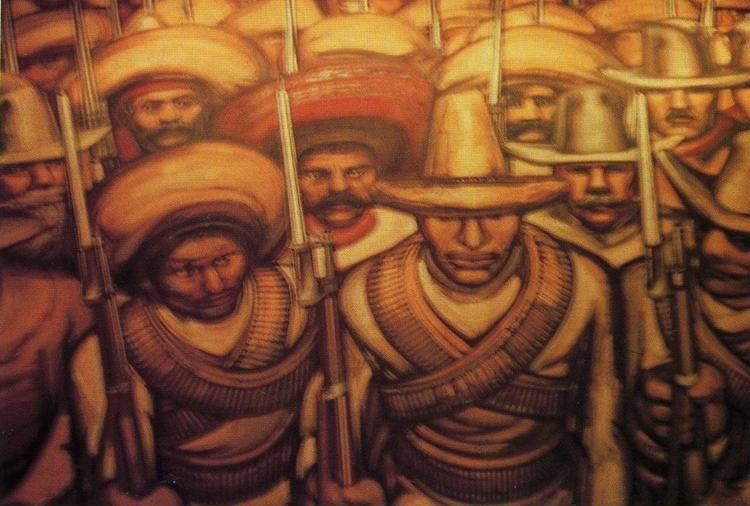 David Alfaro Siqueiros. From the Dictatorship of Porfirio Diaz to the Revolution. Detail.