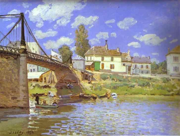 Alfred Sisley. Bridge at Villeneuve-la-Garenne.