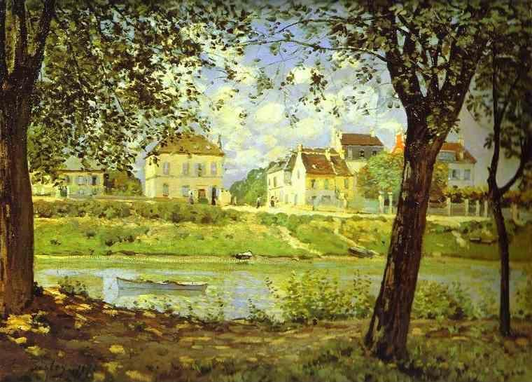 Alfred Sisley. Village on the Banks of the Seine (Villeneuve-la-Garenne).