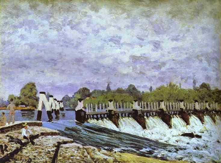 Alfred Sisley. Molesey Weir - Morning.