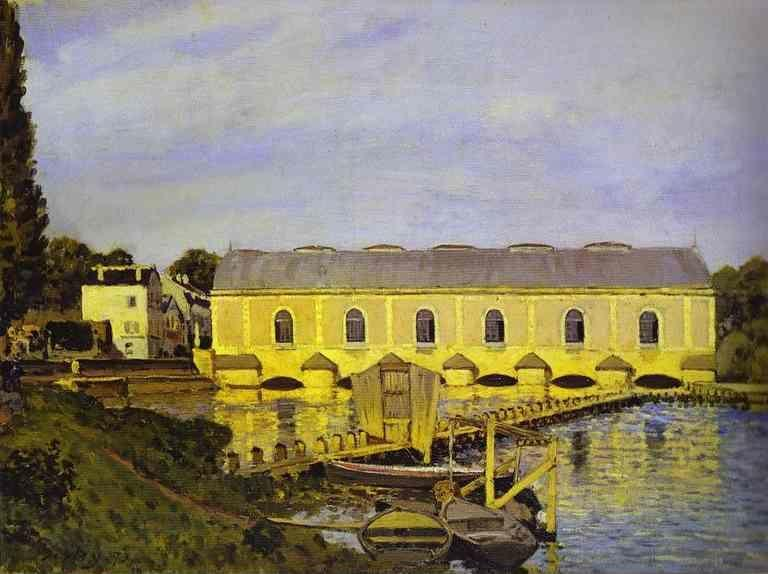 Alfred Sisley. The Machine at Marly.