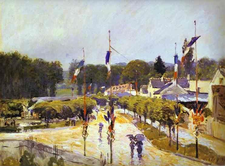 Alfred Sisley. Fête Day at Marly-le-Roi (formerly The Fourteenth of July at Marly-le-Roi).