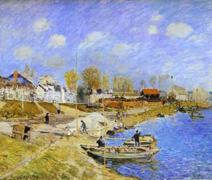 Alfred Sisley. Sand on the Quayside, Port Marly.
