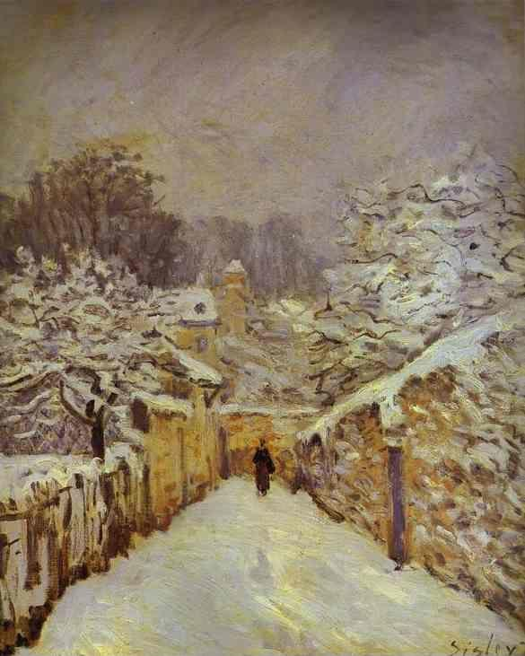 Alfred Sisley. Snow at Louveciennes.