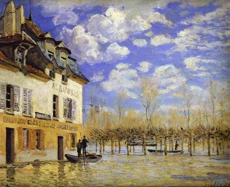 Alfred Sisley. Boat in the Flood at Port-Marly.