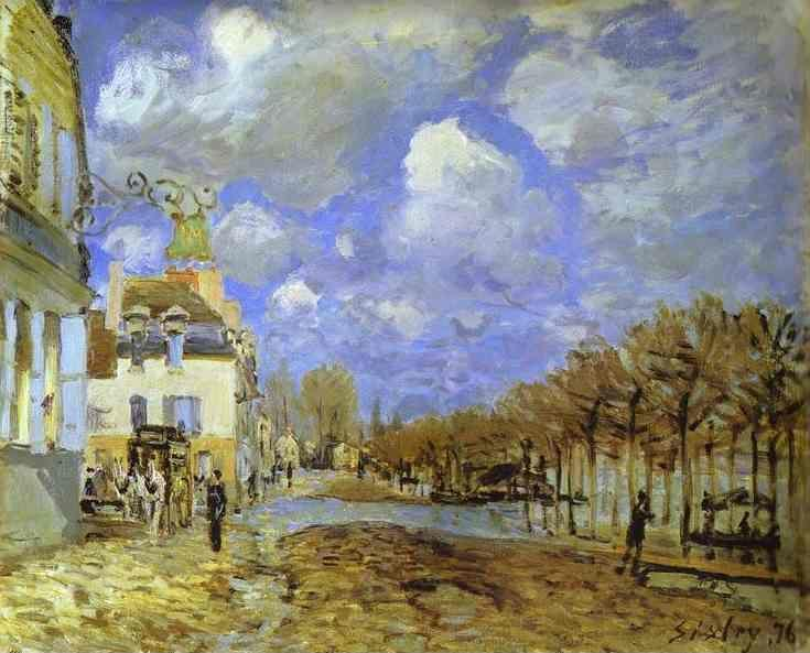 Alfred Sisley. Flood at Port-Marly.