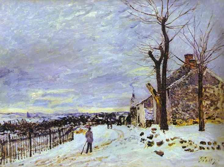 Alfred Sisley. Snowy Weather at Veneux-Nadon.